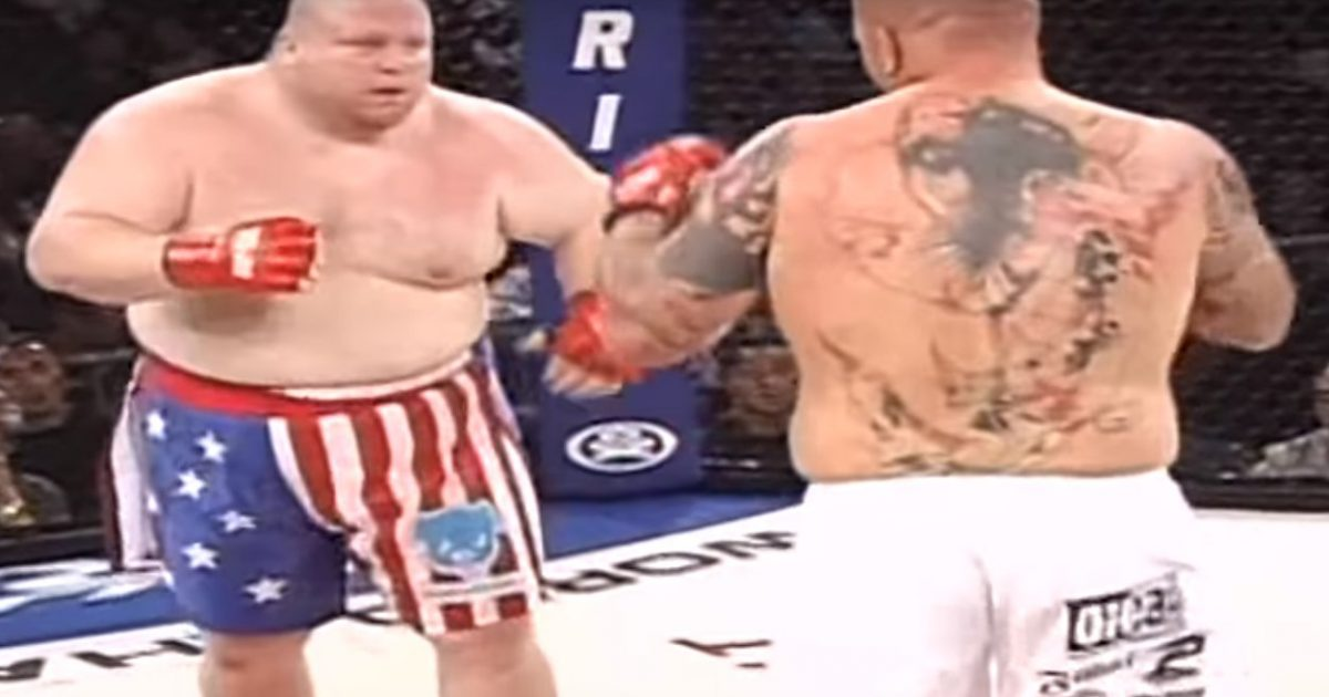 MMA video: One lost teeth, the other broke his arm: Butterbean vs 'Cabbage'-